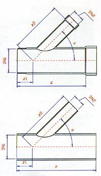 Тройник трубы FKS схема